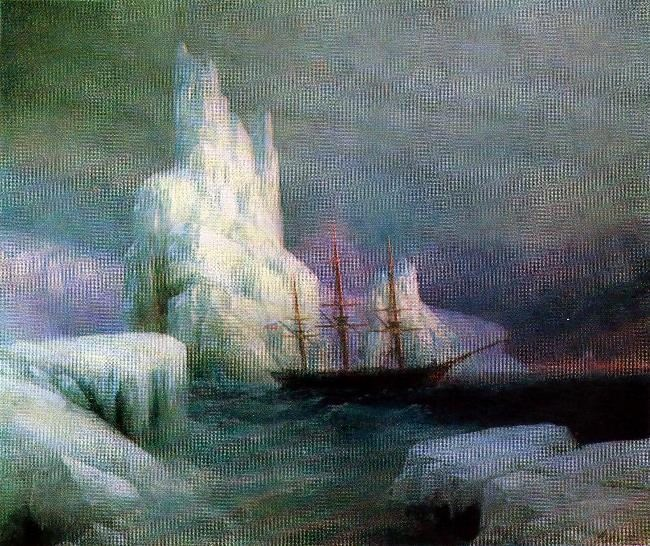 Ice mountains. 1870