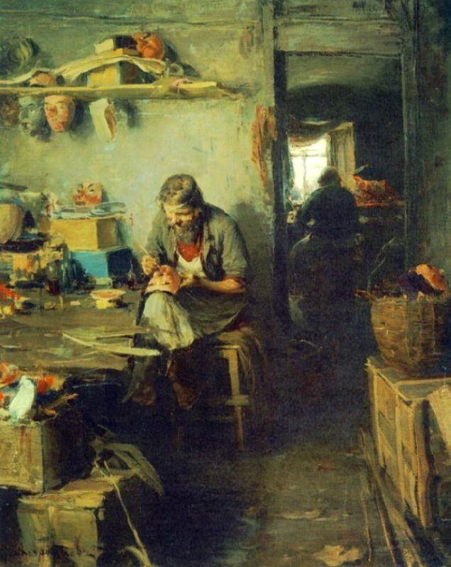 In the workshop of masks