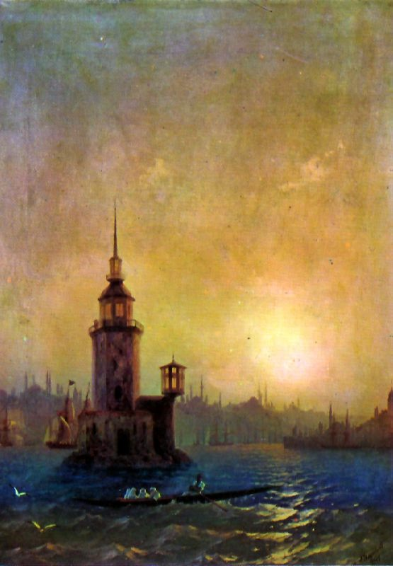 Leander Tower in Constantinople, 1848