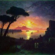 Neapolitan Bay in the moonlit night. 1842