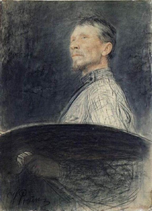 Portrait of Arkhipov by I. Repin