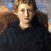 Portrait of Boris Vasnetsov, son of the artist. 1889