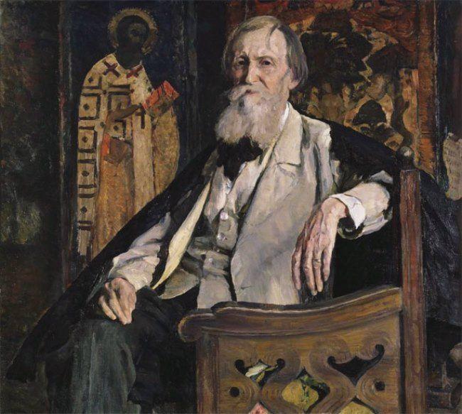 Portrait of Vasnetsov. M.B. Nesterov