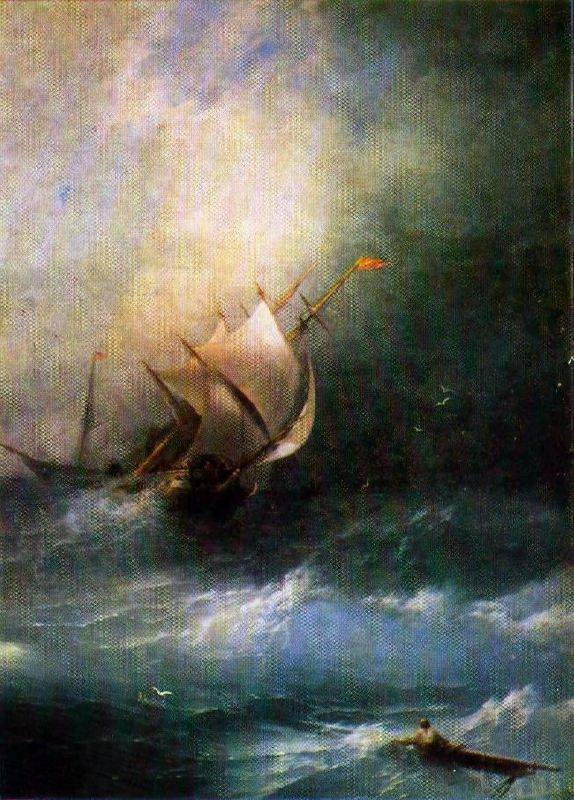 Storm in the Arctic Ocean. 1864