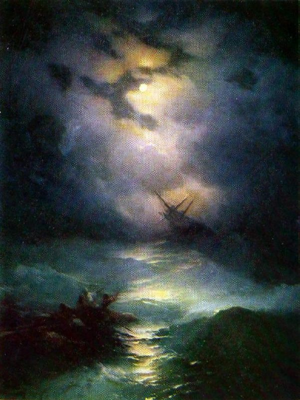 Storm in the North Sea. 1865