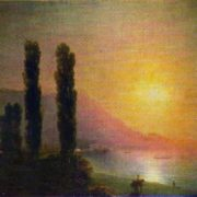 Sunrise on the coast of Yalta. 1864