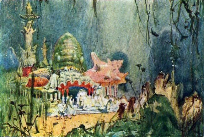 The Underwater Castle. Sketch for A.S. Dargomyzhsky's opera The Mermaid, 1884