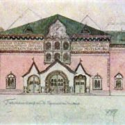 The initial design of the facade of the Tretyakov Gallery. 1900