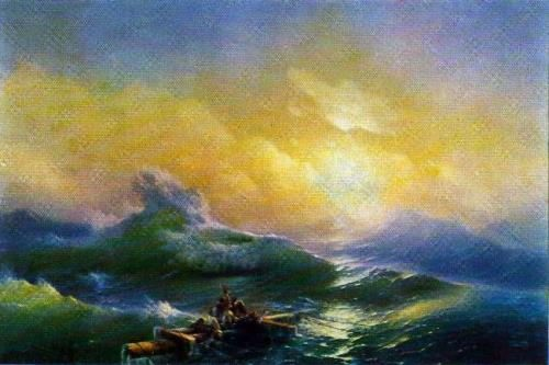 Wonderful Seascapes by Ivan Aivazovsky. The Ninth Wave