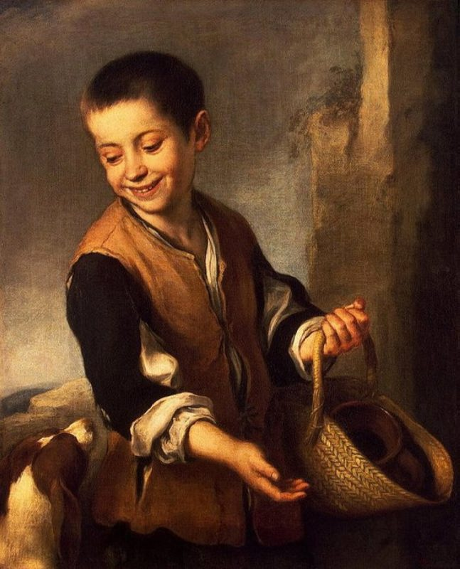 A boy with a dog, 1655-1660, The State Hermitage, St. Petersburg