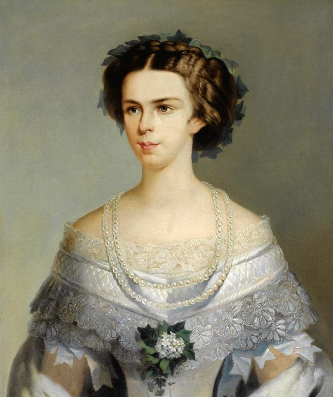 Amalia Evgenia Elizabeth of Bavaria, wife of Emperor Franz Josef I. Empress of Austria