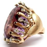 Awesome ring with amethyst