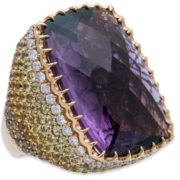 Beautiful ring with amethyst
