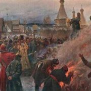 Burning of the archpriest of Habakkuk, 1897