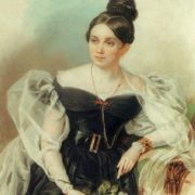 Elena Grigoryevna Chertkova (1800-1832), the daughter of Baron G.A. Stroganov