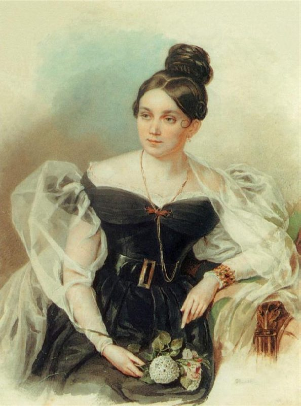 Elena Grigoryevna Chertkova (1800-1832), the daughter of Baron G.A. Stroganov