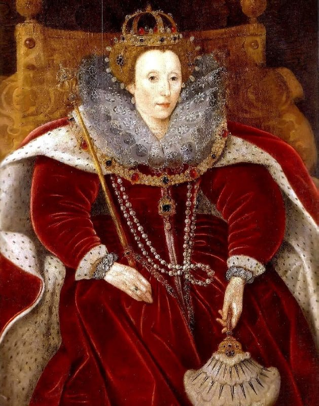 Elizabeth I of England in Parliament Robes, Helmingham Hall, Stowmarket