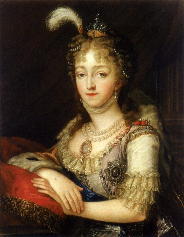 Empress Elizabeth Alekseevna, the wife of Emperor Alexander I