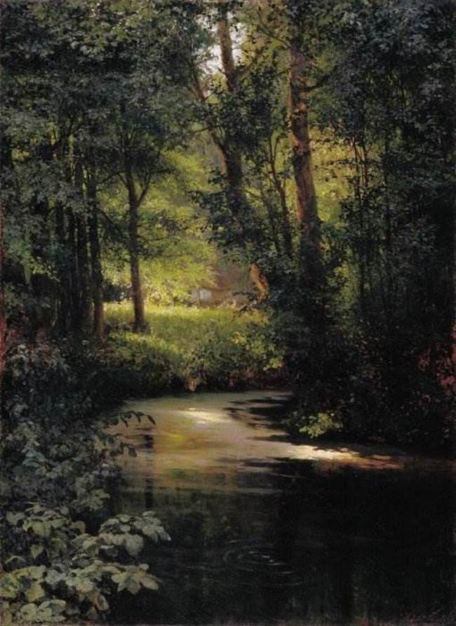 Forest stream. In the spring of 1890
