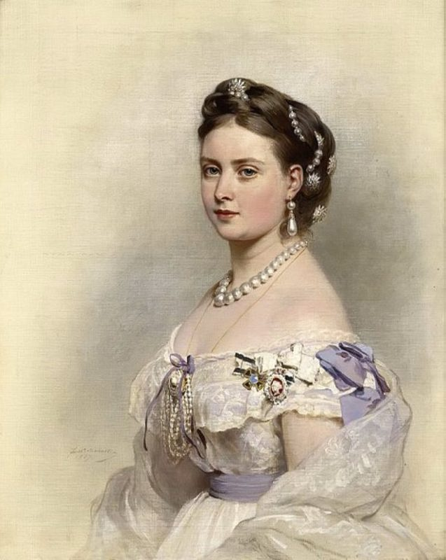 Franz Xaver Winterhalter. Portrait of the English Princess Victoria, 1867