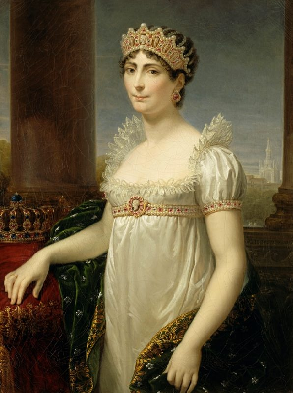 Josephine Beauharnais, the first wife of Napoleon I, the queen of France until 1809