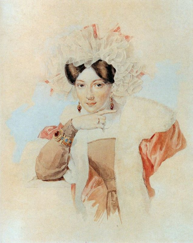 Julia Pavlovna Sokolova, the wife of the artist P.F. Sokolov. 1827
