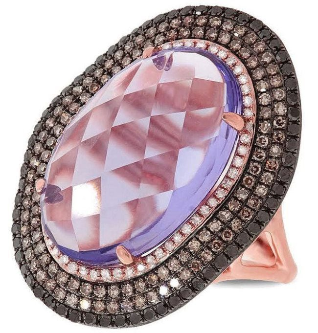 Lovely ring with amethyst