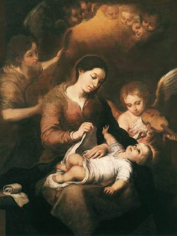 Mary with the Child and playing angels, 1675