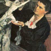 Mikhail Nesterov. Portrait of Vera Mukhina