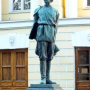 Monument to Maxim Gorky at the Institute of World Literature