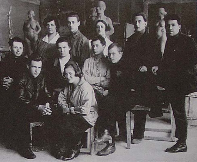 Mukhina and her students