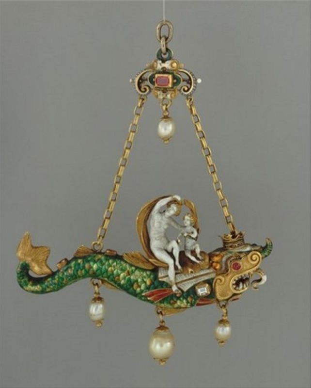 Pendant with pearls, 1580, Germany