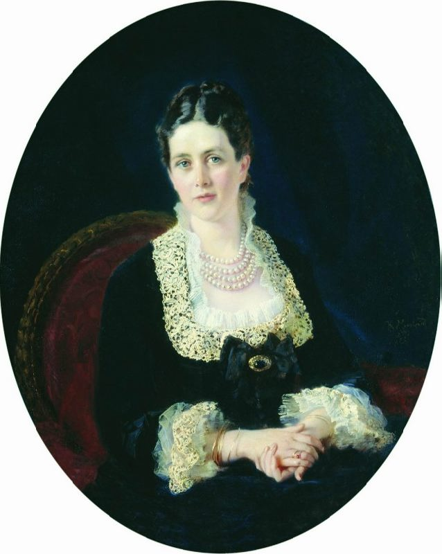 Portrait of Countess E.P. Sheremeteva, 1877