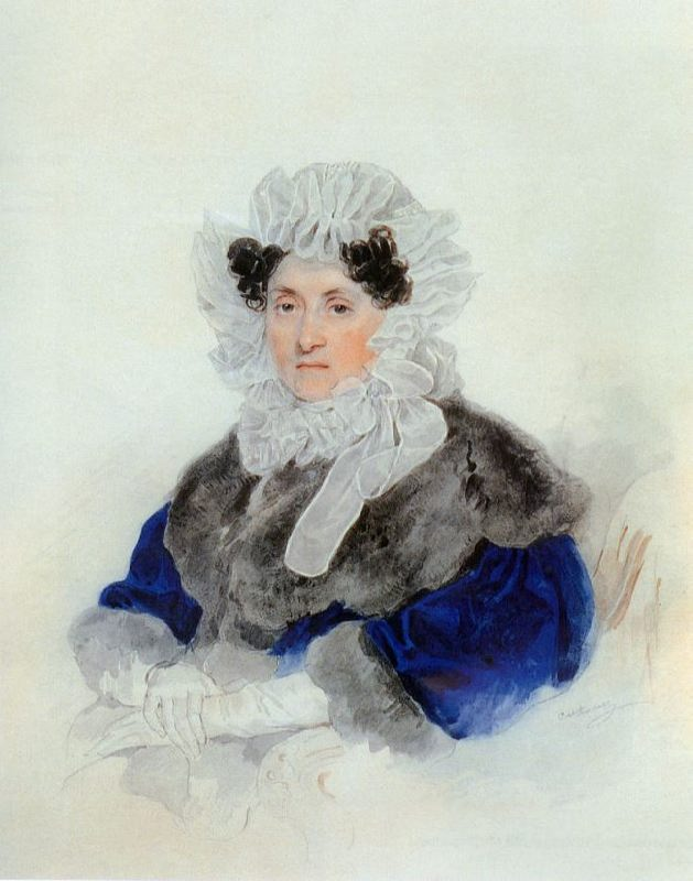 Portrait of E.A. Osterman-Tolstaya. 1830s
