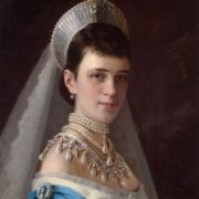 Portrait of Empress Maria Fyodorovna by Ivan Kramskoy