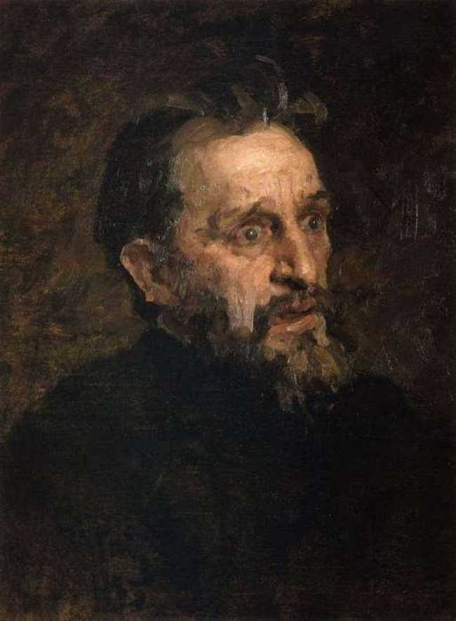 Portrait of I. Repin, sketch, 1883