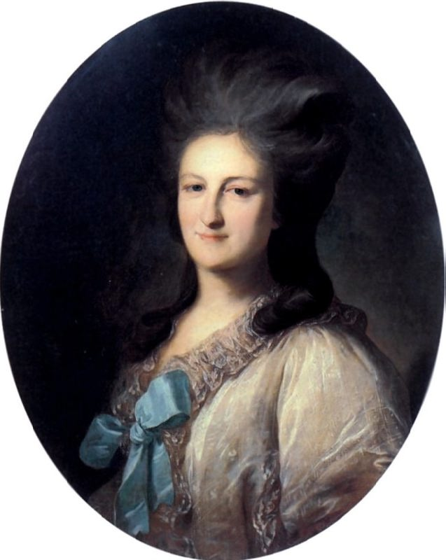 Portrait of V. E. Novosiltsova. 1780