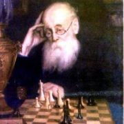 Portrait of chess player A.D. Petrov