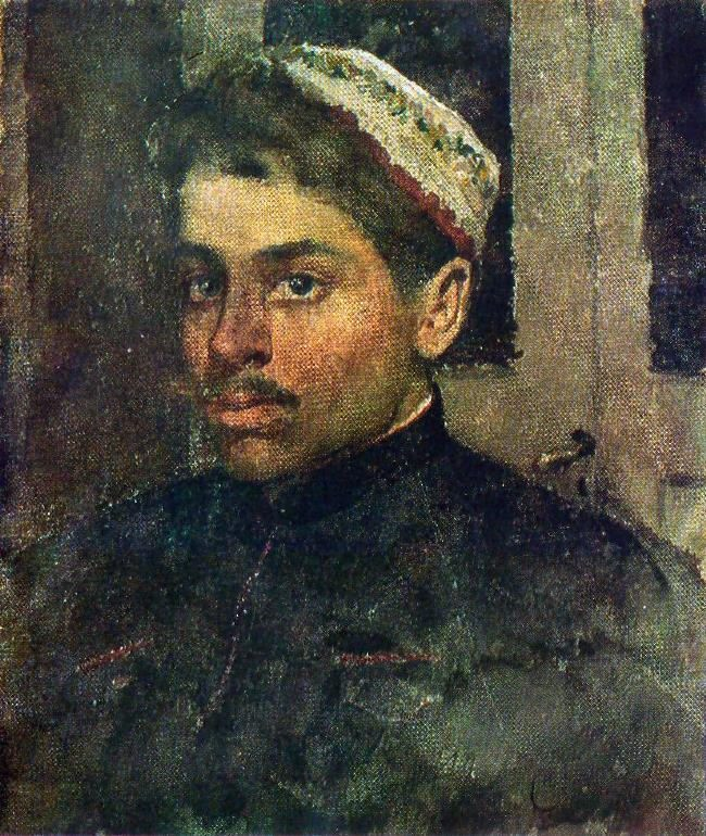 Portrait of the artist S. P. Kostenko. 1880s