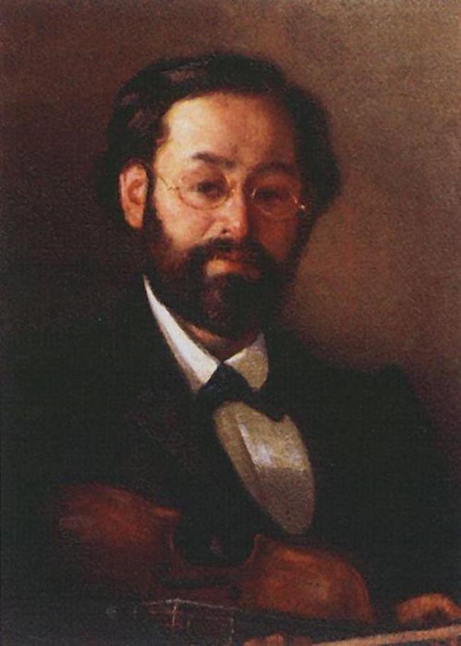 Portrait of violinist V.G. Walter. 1902