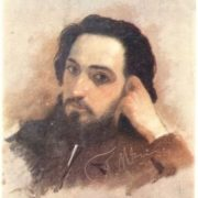 Portrait of writer V.M. Garshin
