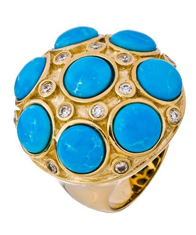 Pretty ring with turquoise