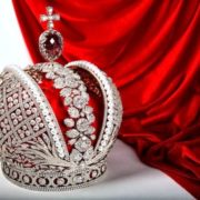 Royal crown with pearls