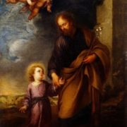 St Joseph Leading the Christ Child