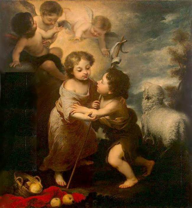 The Infant Jesus and St. John the Baptist, 1655-60, Hermitage, St. Petersburg