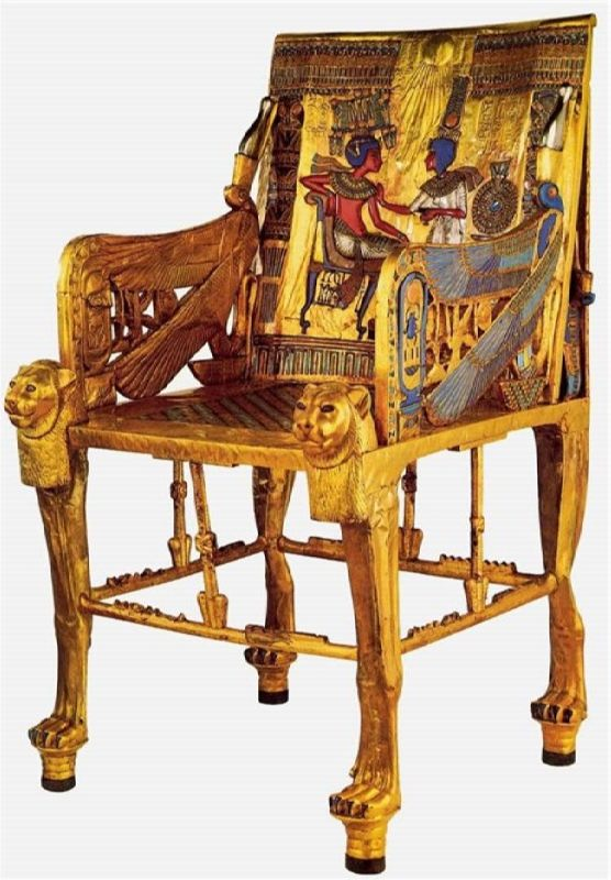 The golden throne of Tutankhamun