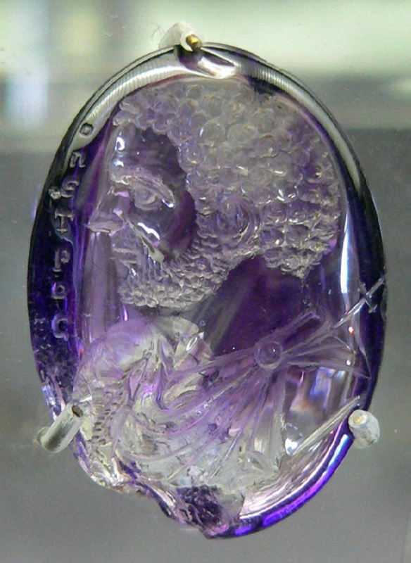 The image of Emperor Caracall, amethyst