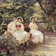 Three sisters in the park