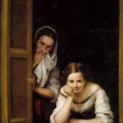 Two women in the window