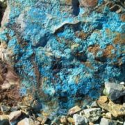 Wall of the quarry - turquoise